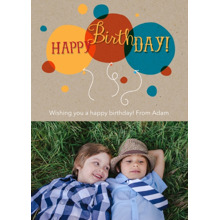 Birthday Greeting Cards 5x7 Folded Cards, Standard Cardstock 85lb, Card & Stationery -Happy Birthday Balloons