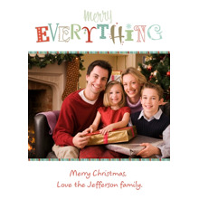 Christmas Photo Cards 5x7 Cards, Premium Cardstock 120lb with Elegant Corners, Card & Stationery -Merry Everything