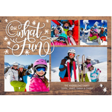 Christmas Photo Cards 5x7 Cards, Premium Cardstock 120lb with Elegant Corners, Card & Stationery -Christmas Oh What Fun