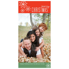 Christmas Photo Cards 4x8 Flat Card Set, 85lb, Card & Stationery -Snowflake Christmas