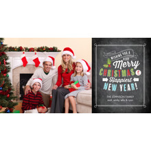 Christmas Photo Cards 4x8 Flat Card Set, 85lb, Card & Stationery -Christmas Festive Type