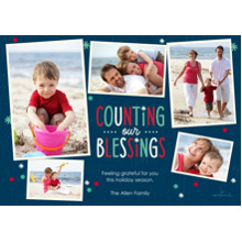 Christmas Photo Cards 5x7 Cards, Premium Cardstock 120lb with Elegant Corners, Card & Stationery -Counting Our Blessings