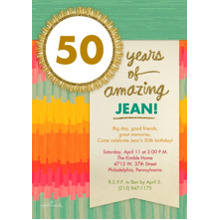 Birthday Party Invites 5x7 Cards, Premium Cardstock 120lb with Rounded Corners, Card & Stationery -Colorful Brushstrokes