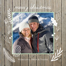 Christmas Photo Cards 5x5 Flat Card Set, 85lb, Card & Stationery -Woodsy Framed Christmas