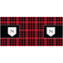 Everyday 11 oz. Black Mug, Gift -Red Plaid