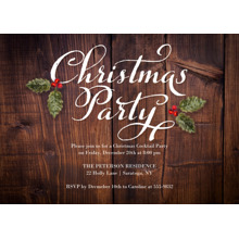 Christmas Party Invitations 5x7 Cards, Standard Cardstock 85lb, Card & Stationery -Christmas Invite Rustic