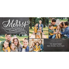 Christmas Photo Cards 4x8 Flat Card Set, 85lb, Card & Stationery -Christmas 2018 Swirl Snapshots by Tumbalina