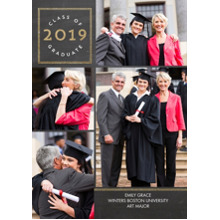 2019 Graduation Announcements 5x7 Cards, Premium Cardstock 120lb with Scalloped Corners, Card & Stationery -2019 Grad Circle by Tumbalina