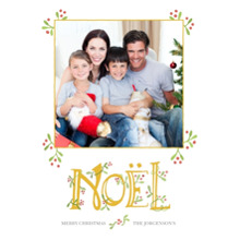 Christmas Photo Cards 5x7 Cards, Premium Cardstock 120lb with Rounded Corners, Card & Stationery -Once Upon A Noel