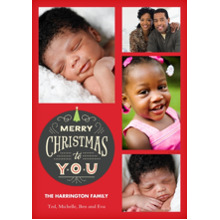 Christmas Photo Cards 5x7 Cards, Premium Cardstock 120lb with Elegant Corners, Card & Stationery -Merry Christmas Medallion