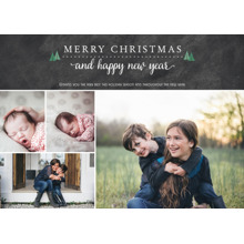Christmas Photo Cards 5x7 Cards, Premium Cardstock 120lb with Rounded Corners, Card & Stationery -Teeny Trees