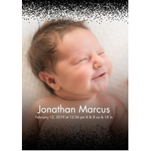 Baby Announcements Set of 20, Premium 5x7 Foil Card, Card & Stationery -Glitter Border
