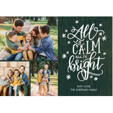 Christmas Photo Cards 5x7 Cards, Premium Cardstock 120lb with Rounded Corners, Card & Stationery -Christmas Stars All Bright by Tumbalina
