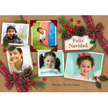 Christmas Photo Cards 5x7 Cards, Premium Cardstock 120lb with Rounded Corners, Card & Stationery -Feliz Navidad Scrapbook