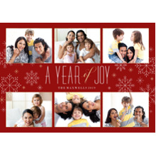Christmas Photo Cards 5x7 Cards, Premium Cardstock 120lb with Rounded Corners, Card & Stationery -Year of Joy