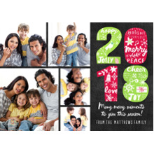 Christmas Photo Cards 5x7 Cards, Premium Cardstock 120lb with Scalloped Corners, Card & Stationery -2018 Holiday Icon Illustrations