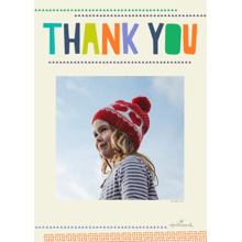 Birthday Greeting Cards 5x7 Folded Cards, Premium Cardstock 120lb, Card & Stationery -Folded Colorful Thank You