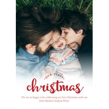 Christmas Photo Cards 5x7 Cards, Premium Cardstock 120lb with Elegant Corners, Card & Stationery -Our First Christmas