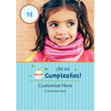 Birthday Party Invites 5x7 Cards, Premium Cardstock 120lb with Rounded Corners, Card & Stationery -Es mi Cumpleanos