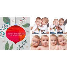 Christmas Photo Cards 4x8 Flat Card Set, 85lb, Card & Stationery -Christmas Collage