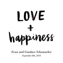 Love Wood Hanger Board Print, 11x14, Home Decor -Love Happiness