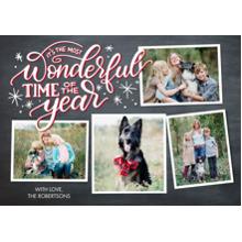 Christmas Photo Cards 5x7 Cards, Premium Cardstock 120lb with Elegant Corners, Card & Stationery -Christmas Wonderful Stars by Tumbalina
