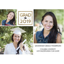 2019 Graduation Announcements 5x7 Cards, Premium Cardstock 120lb with Scalloped Corners, Card & Stationery -2019 Grad Cube by Tumbalina