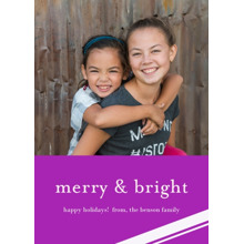 Christmas Photo Cards 5x7 Cards, Premium Cardstock 120lb with Rounded Corners, Card & Stationery -Merry & Bright Holiday