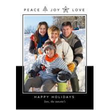 Christmas Photo Cards 5x7 Cards, Premium Cardstock 120lb with Rounded Corners, Card & Stationery -Geometric Tree And Star