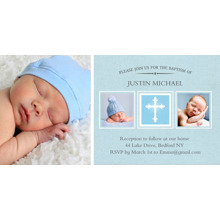Christening + Baptism Flat Matte Photo Paper Cards with Envelopes, 4x8, Card & Stationery -Baptism Cross Middle Box