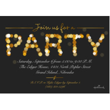 Birthday Party Invites 5x7 Cards, Premium Cardstock 120lb, Card & Stationery -Party Lights