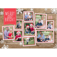 Christmas Photo Cards 5x7 Cards, Premium Cardstock 120lb with Scalloped Corners, Card & Stationery -Christmas 2018 Collage by Tumbalina