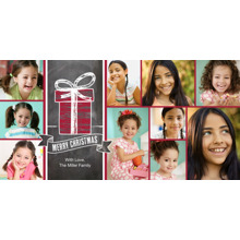 Christmas Photo Cards 4x8 Flat Card Set, 85lb, Card & Stationery -Christmas Gift with Banner