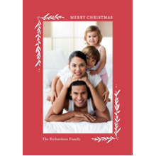 Christmas Photo Cards 5x7 Cards, Premium Cardstock 120lb with Elegant Corners, Card & Stationery -Christmas Foliage Corners