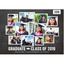 2019 Graduation Announcements 5x7 Cards, Premium Cardstock 120lb with Scalloped Corners, Card & Stationery -2019 Graduate Collage by Tumbalina
