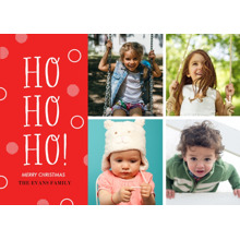 Christmas Photo Cards 5x7 Cards, Premium Cardstock 120lb with Rounded Corners, Card & Stationery -Ho Ho Ho Stacked Multi