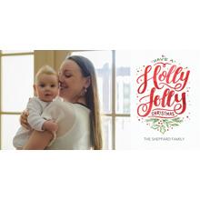 Christmas Photo Cards 4x8 Flat Card Set, 85lb, Card & Stationery -Christmas Holly Jolly Festive