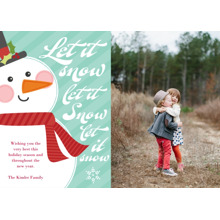 Christmas Photo Cards 5x7 Cards, Premium Cardstock 120lb with Rounded Corners, Card & Stationery -Let it Snow