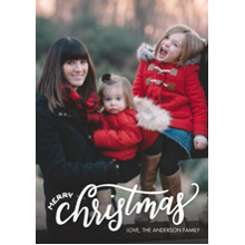 Christmas Photo Cards 5x7 Cards, Premium Cardstock 120lb with Rounded Corners, Card & Stationery -Christmas Modern Script