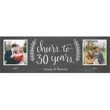 Anniversary 2x6 Peel, Stick & Reuse Banner, Home Decor -Chalkboard Anniversary