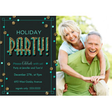 Christmas Party Invitations 5x7 Cards, Premium Cardstock 120lb with Elegant Corners, Card & Stationery -Start the Party!