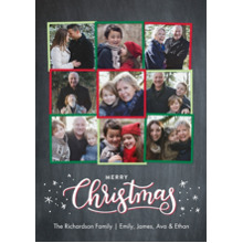 Christmas Photo Cards 5x7 Cards, Premium Cardstock 120lb with Elegant Corners, Card & Stationery -Christmas Collage