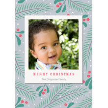 Christmas Photo Cards 5x7 Cards, Premium Cardstock 120lb with Elegant Corners, Card & Stationery -First Snow