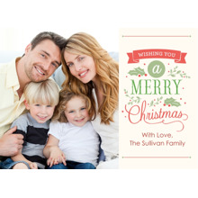 Christmas Photo Cards 5x7 Cards, Premium Cardstock 120lb with Elegant Corners, Card & Stationery -Christmas Lettering