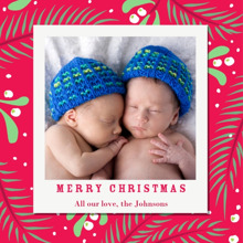 Christmas Photo Cards 5x5 Flat Card Set, 85lb, Card & Stationery -Mistletoe Holiday Cheer