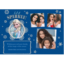 Christmas Photo Cards 5x7 Cards, Premium Cardstock 120lb with Elegant Corners, Card & Stationery -Disney Frozen Let It Sparkle