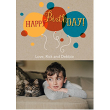Birthday Greeting Cards 5x7 Cards, Standard Cardstock 85lb, Card & Stationery -Happy Birthday Balloons