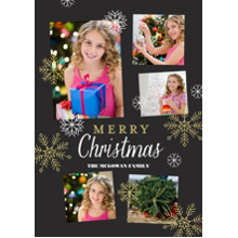 Christmas Photo Cards 5x7 Cards, Premium Cardstock 120lb with Elegant Corners, Card & Stationery -Snowflake Christmas
