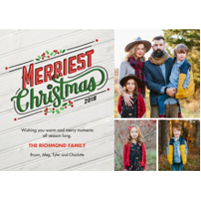 Christmas Photo Cards 5x7 Cards, Premium Cardstock 120lb with Elegant Corners, Card & Stationery -Holly & Wood 2018 by Hallmark