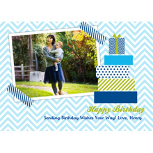 Birthday Greeting Cards 5x7 Folded Cards, Standard Cardstock 85lb, Card & Stationery -High Energy